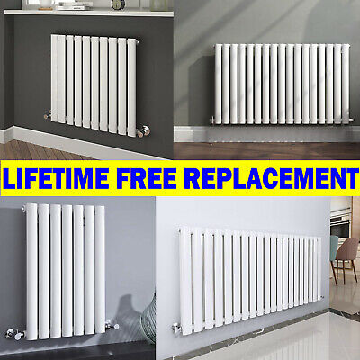 Oval Panel Column Radiator Heated Horizontal for All UK Central Heating System