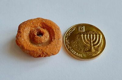 Ancient Roman Pottery Holey Fragment Lucky Pendant • Legendary Masada Israel # 6