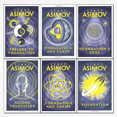 Isaac Asimov Foundation Series 6 Books Collection Set Science Fiction pack NEW