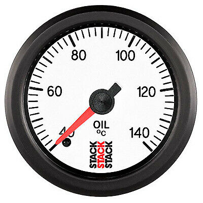 Stack Professional Oil Temperature Gauge - White Dial Face 40-140 Degrees C