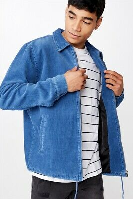 Cotton On Mens Nu Coaches Jacket Jackets  In  Blue