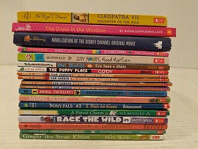 Lot of 19 chapter books Children's Youth Early Readers Homeschool *Girls* FS!!