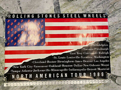 The Rolling Stones Steel Wheels Tour Promo Poster 22 X 34