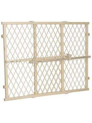 Evenflo Position and Lock Wood Gate , Tan Wood