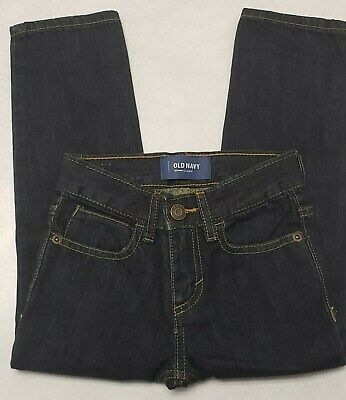 Little Boys Jeans Old Navy Skinny Adjustable 4T (4) Dark Blue Denim Wash Snap