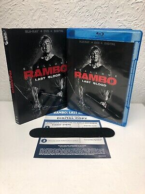 Rambo Last Blood 2019 Blu Ray + Digital HD (NO DVD INCLUDED) Please Read