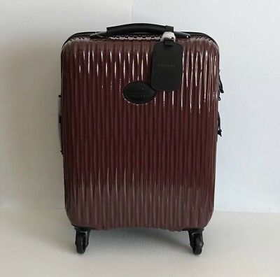 Longchamp 'Fairval' 21 Inch 4 Wheel Hard Shell Carry-On - Two Tone Brown & Black