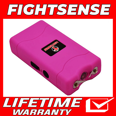 Mini Rechargeable Stun Gun 10 Mil Volts With Led Light Extremely Powerful Pink