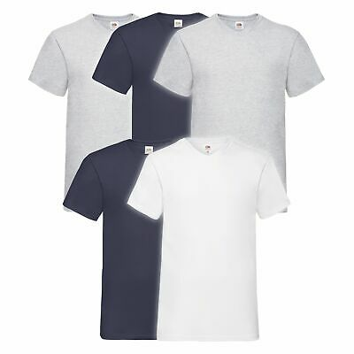 5er Pack Fruit of the Loom Valueweight V-Neck T Sparpack Herren T-Shirts WOW