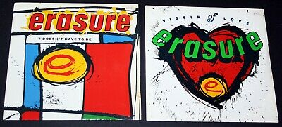 Erasure Joblot Of Vinyl 7 Inch Victim of Love / It Doesnt Have To Be