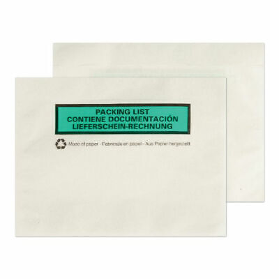 GoSecure A6 Paper Document Enclosed Envelope (Pack of 1000) PAPDE22