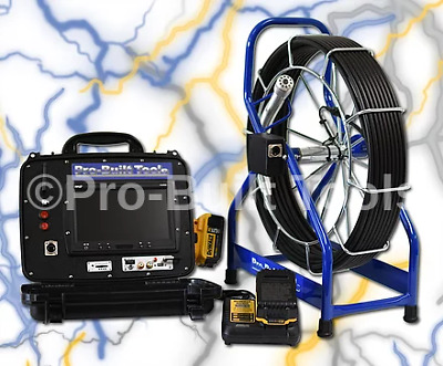 150' PB2000 Battery Powered Sewer Drain Cleaner Inspection Video Camera System