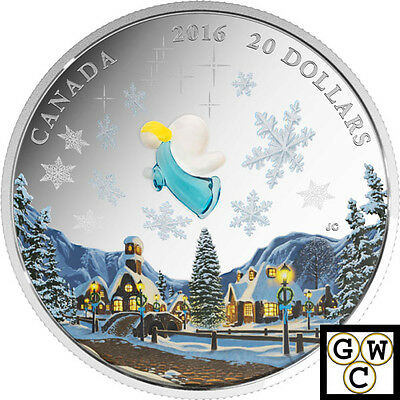 2016 'My Angel (Murano Glass)' Proof $20 Silver Coin 1oz .9999 Fine (17471) (NT)