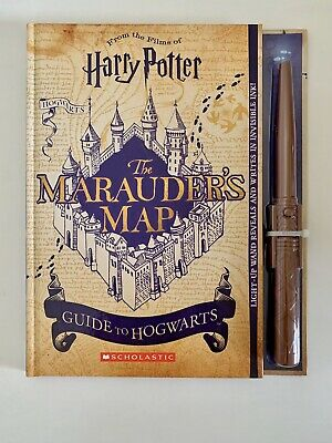 NEW Harry Potter The Marauder's Map Book Guide To Hogwarts w/Wand Scholastic