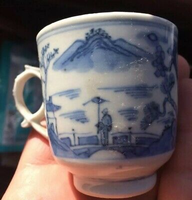 Nice Old Chinese Export Nanking Canton Teacup Porcelain Hand Painted