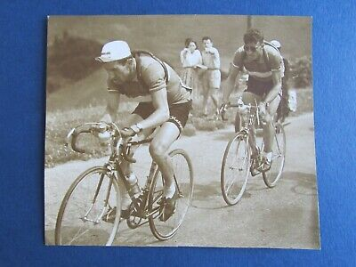 Photo de presse Cyclisme = RAOUL REMY et LOUISON BOBET  =  Original