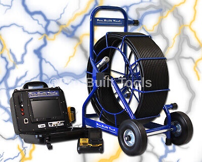 375' PB3600 Battery Powered Snake Drain Pipe Inspection Video Camera