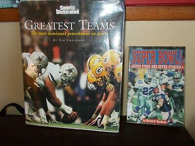 2 Books Sports Illustrated Greatest Teams and Super Bowl Super Stars SALE!!!!!!!