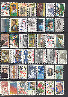 18 and 20 Cent 107 Stamps US Lot 1981-1985 Used