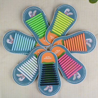 best no-tie easy tie shoelace kids adults rubber tie-free multi-color silicone