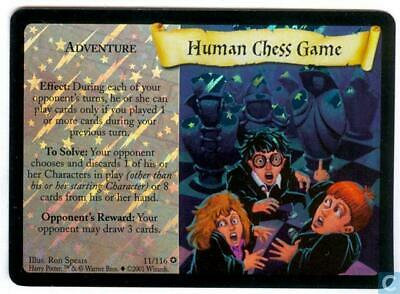 HARRY POTTER TRADING CARD GAME HOLOGRAM HUMAN CHESS GAME CARD 11//116