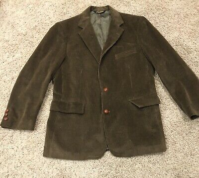 Vintage Brooks Brothers Corduroy Sport Coat Brown Blazer Jacket Men's 43R USA