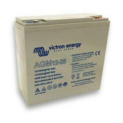 AGM Super Cycle Battery 25Ah 12V Victron Energy Photovoltaic Nautical Camper