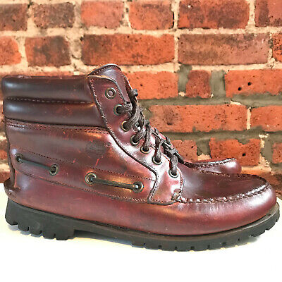 TIMBERLAND MEN'S BROWN Leather Hiking Chukka Boot Size 8.5