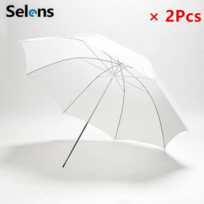 2Pcs 33in Translucent Soft White Umbrella for Photography Lighting Studio Light