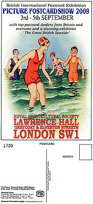 2009 Seaside Exhibition  Picture Postcard Show London Sw1 Advertising Postcard T