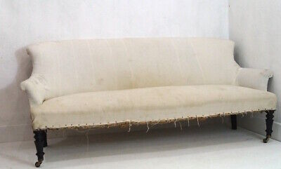 Fabulous 19th C French Louis Philippe 3 Seater Settee inc. Reupholstery