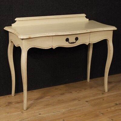 Console Secretary Desk Painting Furniture Table Italian Antique Style Wooden
