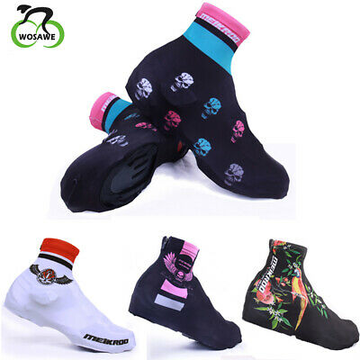 Zimco Lycra Cycling Bicycle Shoe Cover Booties Overshoes with Rear Zipper Blue