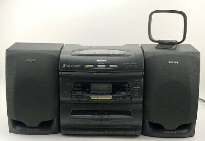 SONY Stereo System Radio AM/FM CD Tape Speakers Sound CFD-646  WORKS GREAT