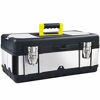 16-inch Tool Box Stainless Steel Consumer Storage with Removable Tool Tray
