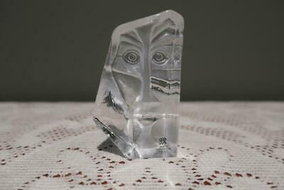 Mats Jonasson Masqot Zador Mask Crystal Sculpture / Figurine - Clear - Box - Vgc