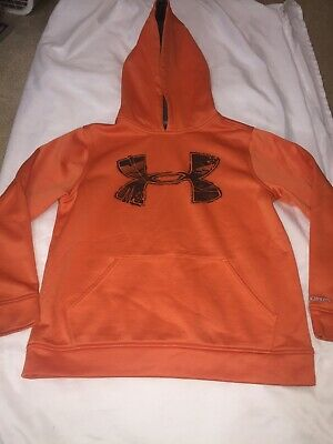Youth Size Medium YMD - Under Armour Storm Orange - Pullover Hoodie