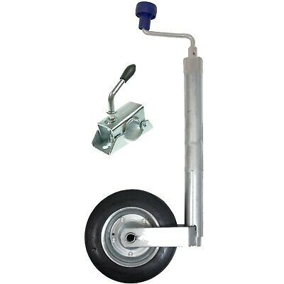 42mm Trailer or Caravan Medium duty jockey wheel with steel wheel 100KG + Clamp