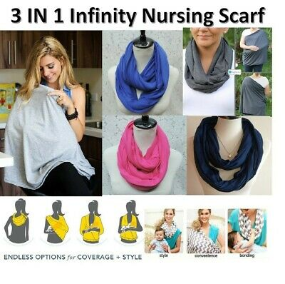 New Infinity Maternity Breastfeeding Nursing Scarf Baby Cover 5 Colors Free Post