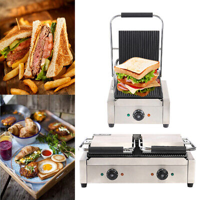 Commercial Nonstick Panini Press Grill Toaster Maker For Any Sandwich Thickness