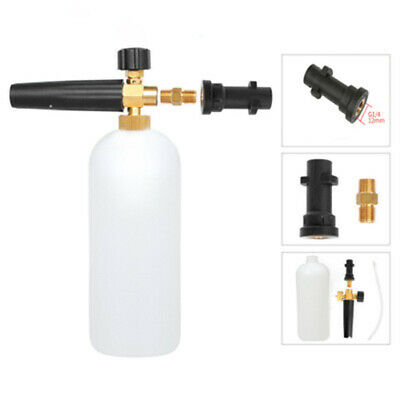 High Pressure 1L Snow Foam Lance Water Bottle Power Washer Spray Nozzle Cool