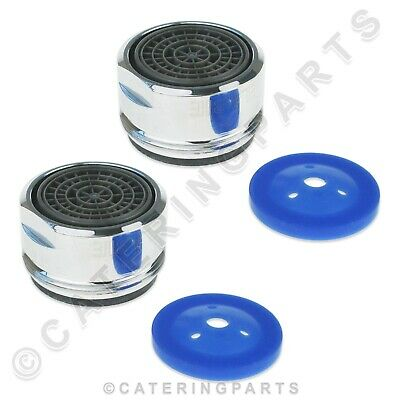 Pack Of 2 Delabie Scale Proof Aerators With Water Saving Washers M24 Tap Faucet