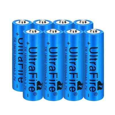 8x 5000mAh 18650 Battery 3.7v Li-ion Rechargeable Battery For Flashlight Torch