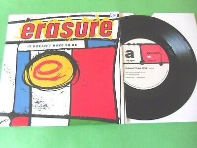 """Erasure - It Doesn't Have To Be  7""""  87  Vg"""