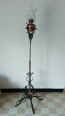 ARTS & CRAFT Telescopic Standard Oil Lamp  probably from W.A.S. Benson