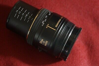 Quantaray MX AF Tech-10 50mm f/2.8 Macro Lens For Minolta / Sony Alpha Exc,+ Cd.