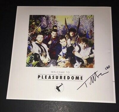 SIGNED TREVOR HORN 12x12 WELCOME TO THE PLEASUREDOME PHOTO FRANKIE GOES TO