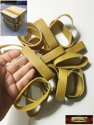 """M00362x5 MOREZMORE 20 Mold Natural Rubber Bands 4"""" x 3/4"""" Wide Thick Heavy Duty"""