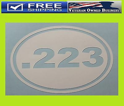"""2 PACK .40 S/&W oval Ammo Can 5/""""x3/"""" Oval .40 S/&W Vinyl Sticker Decal"""