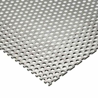 """Carbon Steel Perforated Sheet 0.060"""" x 24"""" x 24"""", 9/64"""" Holes"""